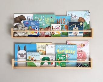 Bookshelves: Round Front -  Kids Bookshelf - Book Shelf - Nursery Shelves - Floating Shelves - Kids Room Wall Shelf - Kids Room Decor