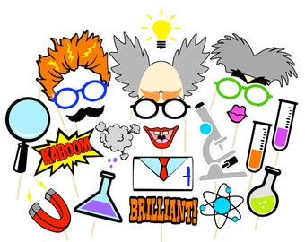 Mad Scientists Photobooth Props | Printable Props