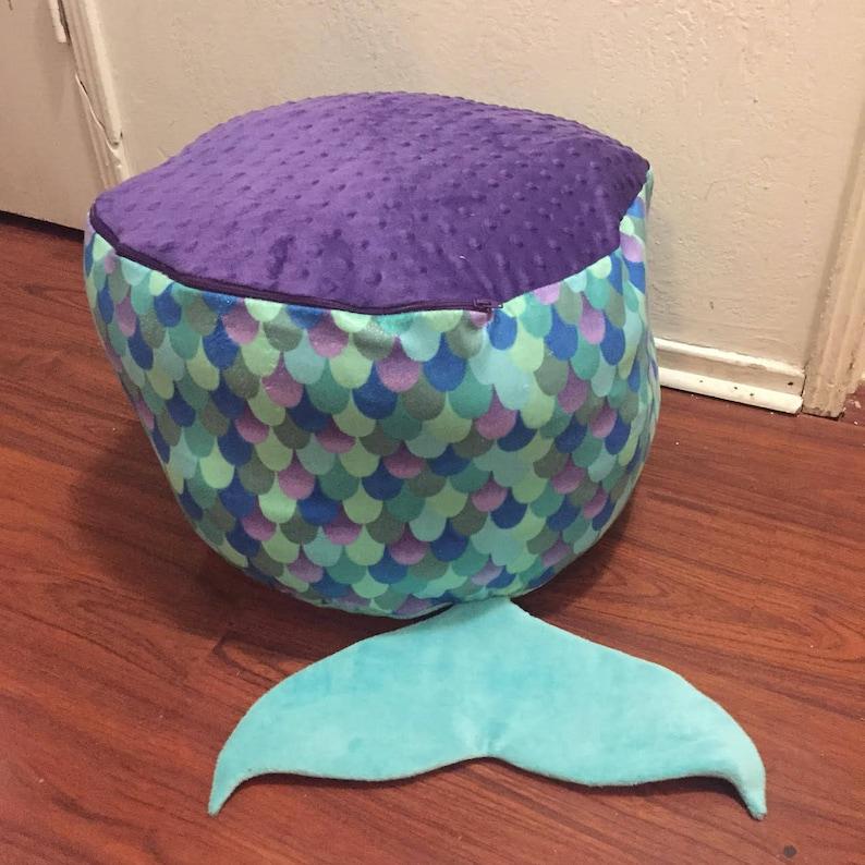 Sensational Mermaid Toy Storage Bean Bag Chair Machost Co Dining Chair Design Ideas Machostcouk