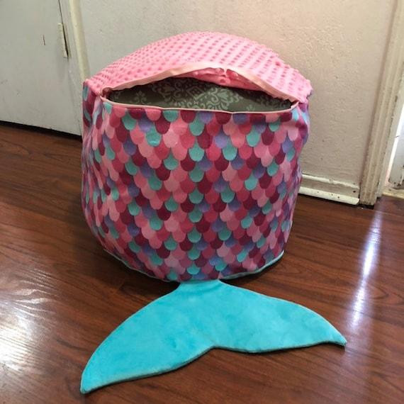 Fantastic Mermaid Toy Storage Bean Bag Chair Machost Co Dining Chair Design Ideas Machostcouk