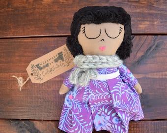 Heirloom doll | cloth doll | fabric doll | Boho doll | African princess | modern rag doll | handmade doll | girls room decor | nursery decor