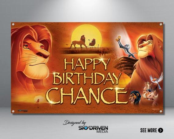 Lion King Birthday Banner Lion King Movie Lion King Etsy