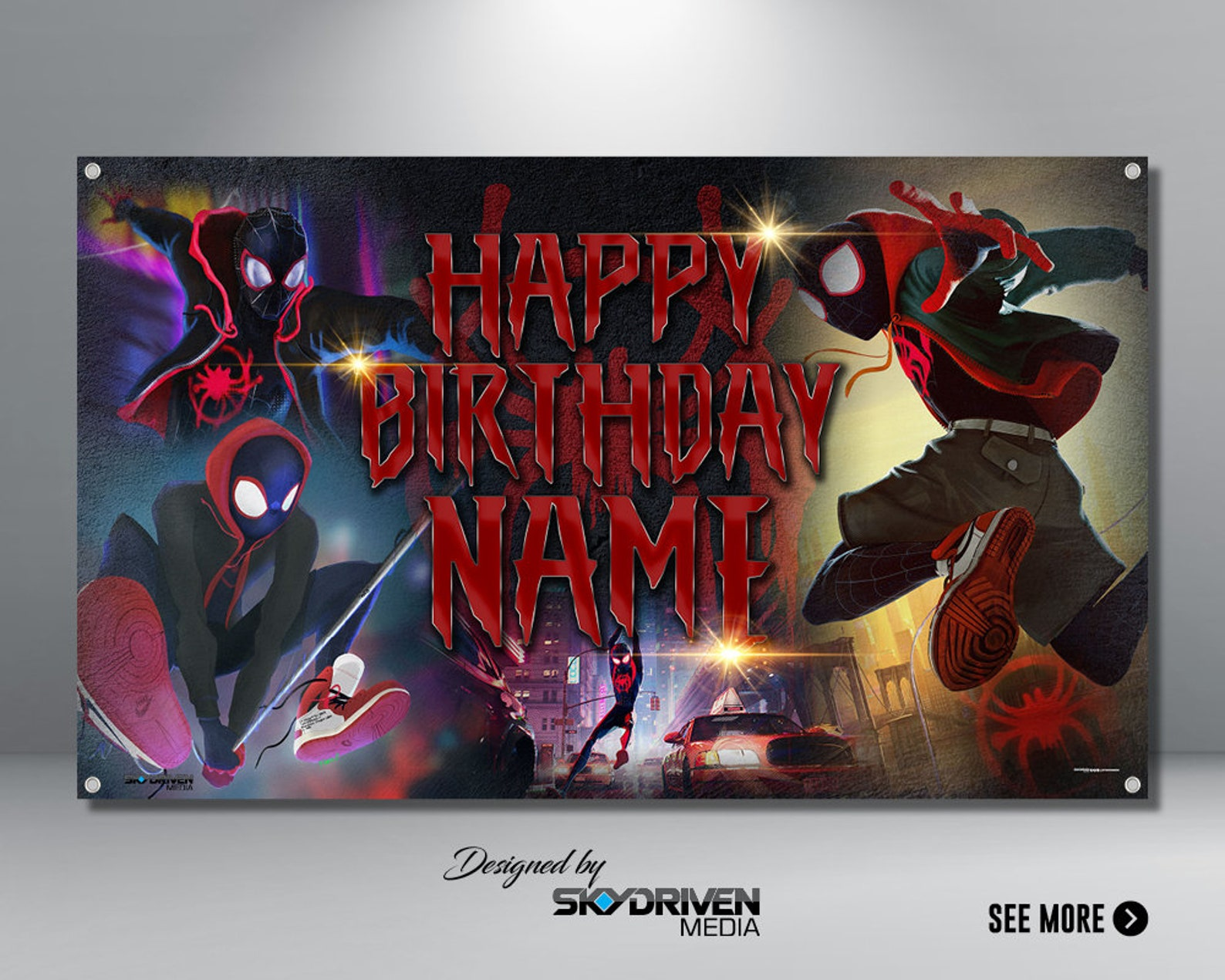 Spiderman Backdrops by 6×4 Ft