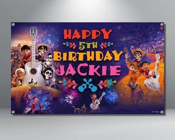 Coco Birthday Banner Coco Banner Coco Backdrop Disney Etsy