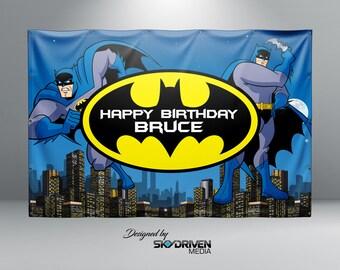 Batman Birthday Banner - Personalized Custom Banner
