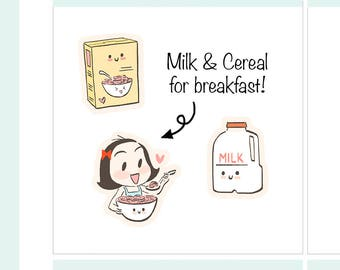 CoCo Milk & Cereal Planner Stickers