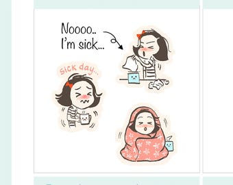 CoCo Sick Days, Cold, Flu, Allergies Planner Sticker
