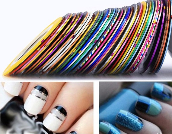 26 Mixed Colors Rolls Striping Tape Line Nail Art Tips Etsy