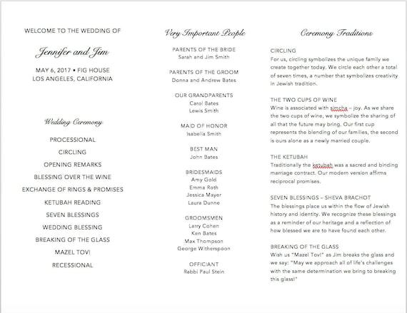 Modern tri fold wedding program template fully customizable etsy image 0 maxwellsz