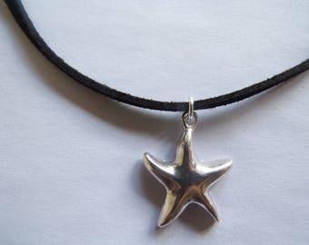 starfish faux suede choker