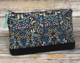 Rifle Paper Co Cosmetic Bag - Large | Handmade Bag | Clutch Purse for Her