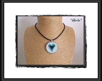 """Polymer necklace """"offer me your heart"""""""