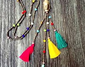 Necklaces Hindus Buddha and 7 Chakras.