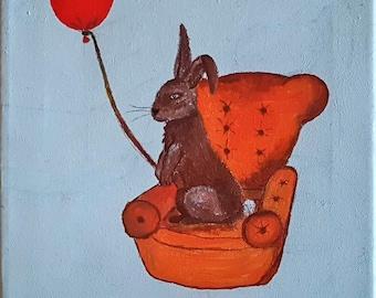 Bunny, Rabbit, hare, armchair, chair, FÅTÖLJ, Ballon, Balong