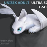 "Adult Ultra Soft T-Shirt: Furious LIGHT Dragon""Pocket Protector"""