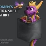 "Women's Ultra Soft T-Shirt: Purple Pyro ""Pocket Protector"""