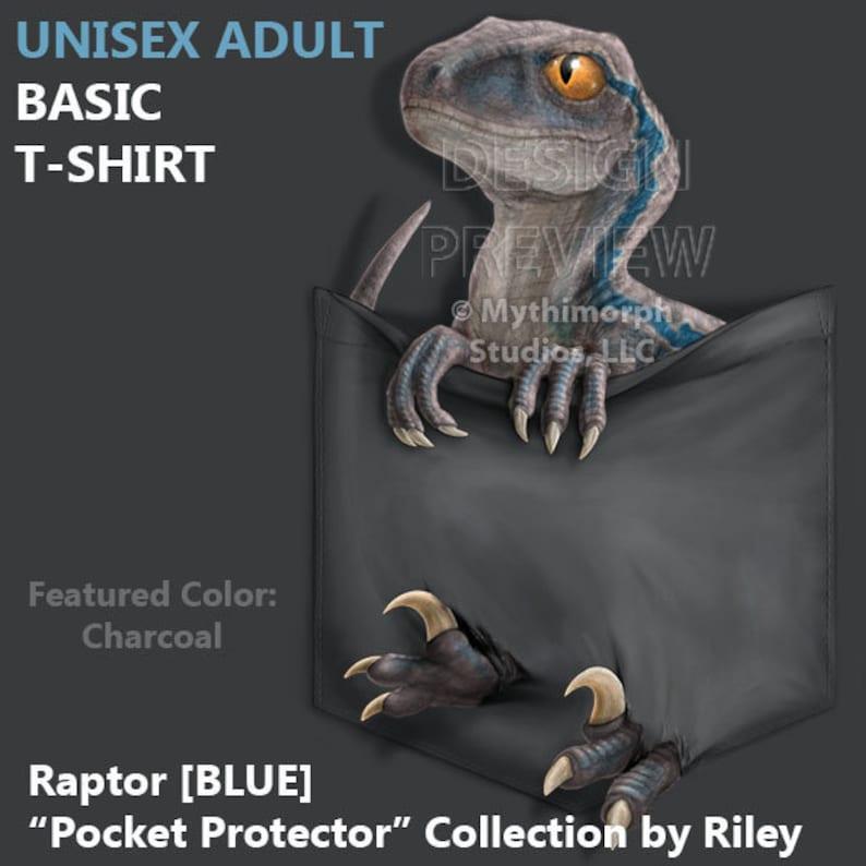 Adult Basic T-Shirt: Raptor BLUE Pocket image 0