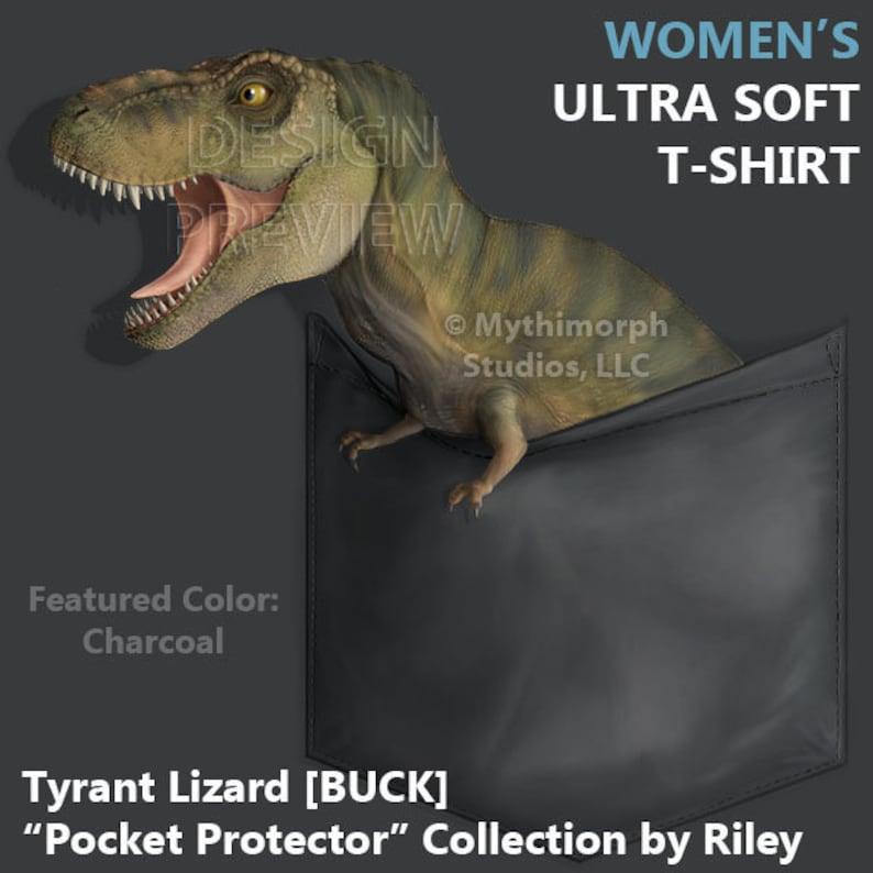 Women's Ultra Soft T-Shirt: Tyrant Lizard BUCK image 0