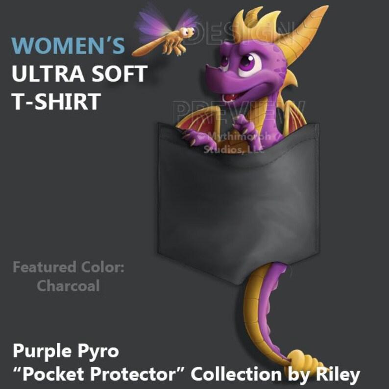 Women's Ultra Soft T-Shirt: Purple Pyro Pocket image 0
