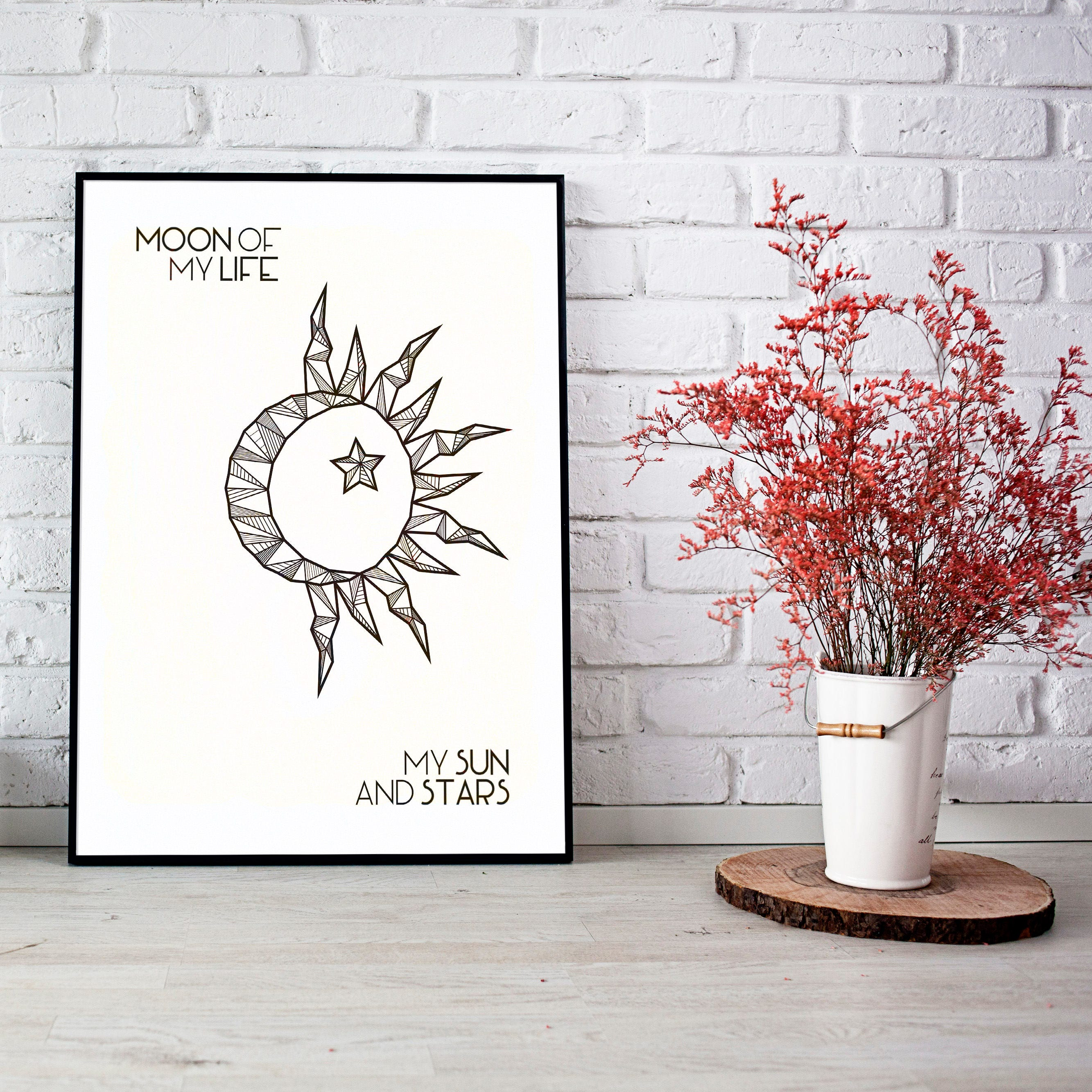 Moon Of My Life My Sun And Stars Game Of Thrones Print Etsy