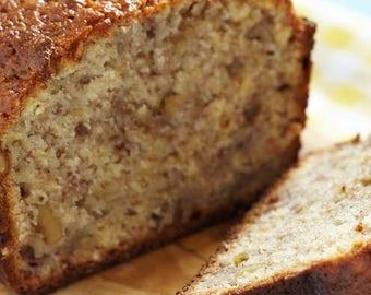 Homemade Banana Nut Bread, Moist Homemade Bread, Fresh Bread, Baked Goods, Dessert, Gift Giving, Fathers Day Gift, Mothers Day Gift,