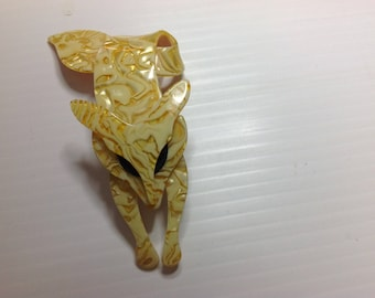 Lea Stein Fox Brooch/Pin