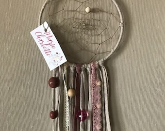 Pink and Tan dream catcher