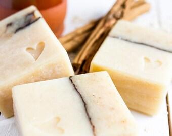 Natural Organic Oat Milk & Oats Soap with Honey,gentle exfoliation,sensitive skin,honey soap,Natural,Palm Free,Artisan Soap, Handmade Soap