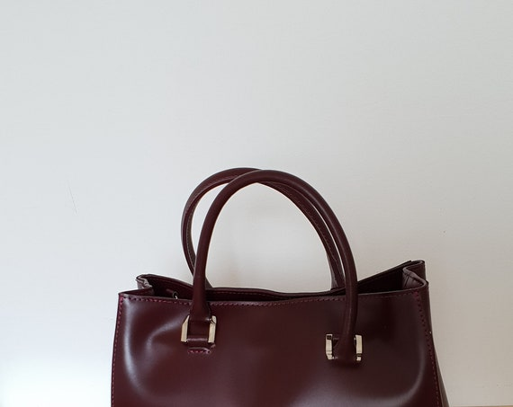 Smooth leather hand bag