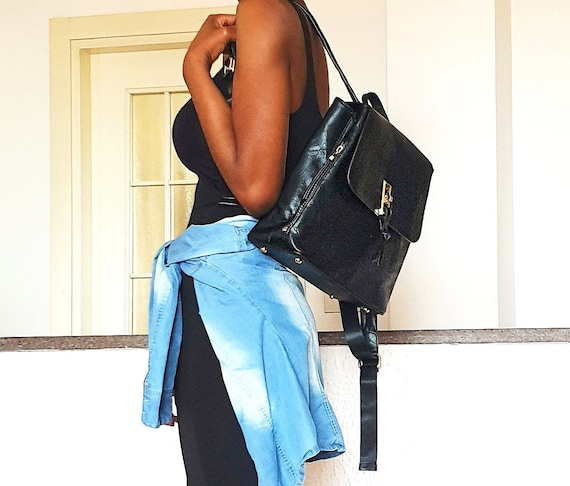 Black back-pack