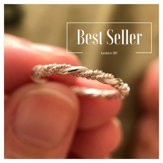 Twisted Ring, Vine Ring, Sterling Silver, Triple Twist Ring, Stacking Ring, Wedding Band, Rope Ring, Thin Band Mother Daughter Friend Sister by Etsy