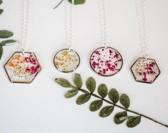 Bouquet Necklace Flower Necklace Flower Lover-Horticulture-Landscaper-IBH Gardener Gift Nature Plant Lover Gift Flower Jewelry