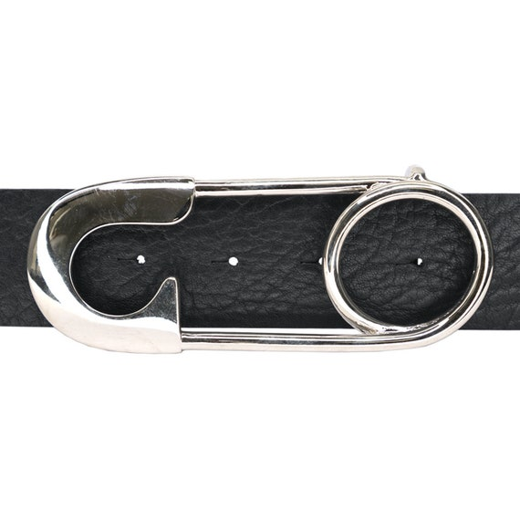 Nickel Safety Pin Belt Buckle