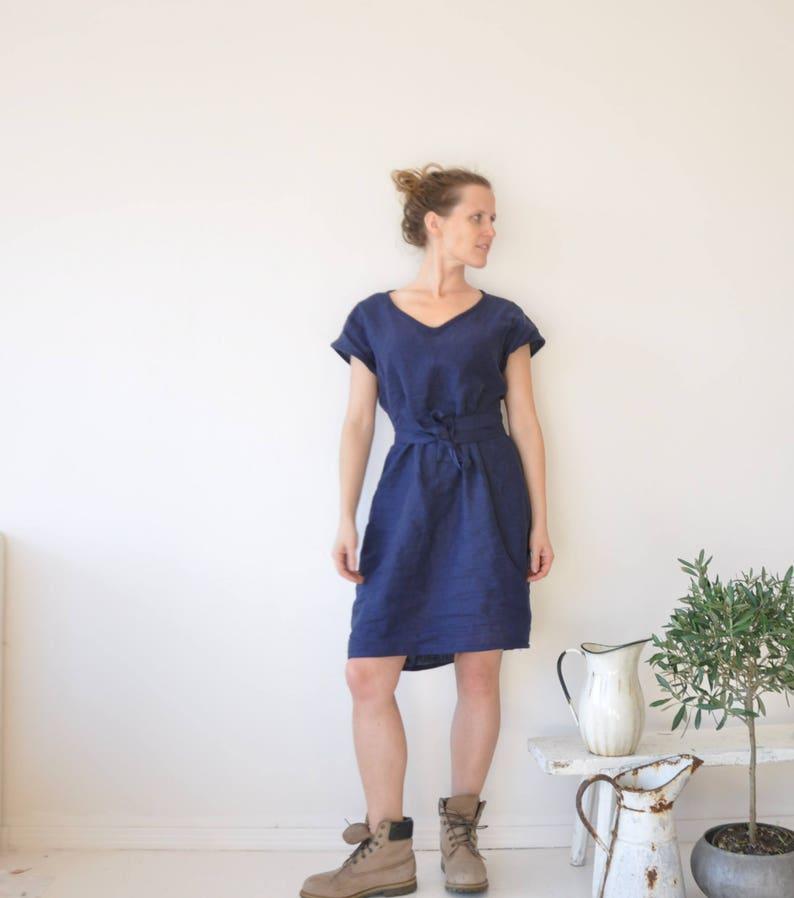 8a37f38375 Navy Blue Navy Blue tunic dress kimono dress oversized linen