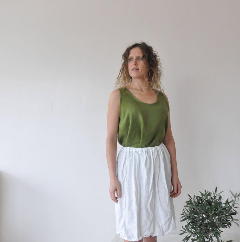linen blouse white linen top plus size boho tunic Green linen tank top linen blouses women linen shirt tunics women tunics oversized