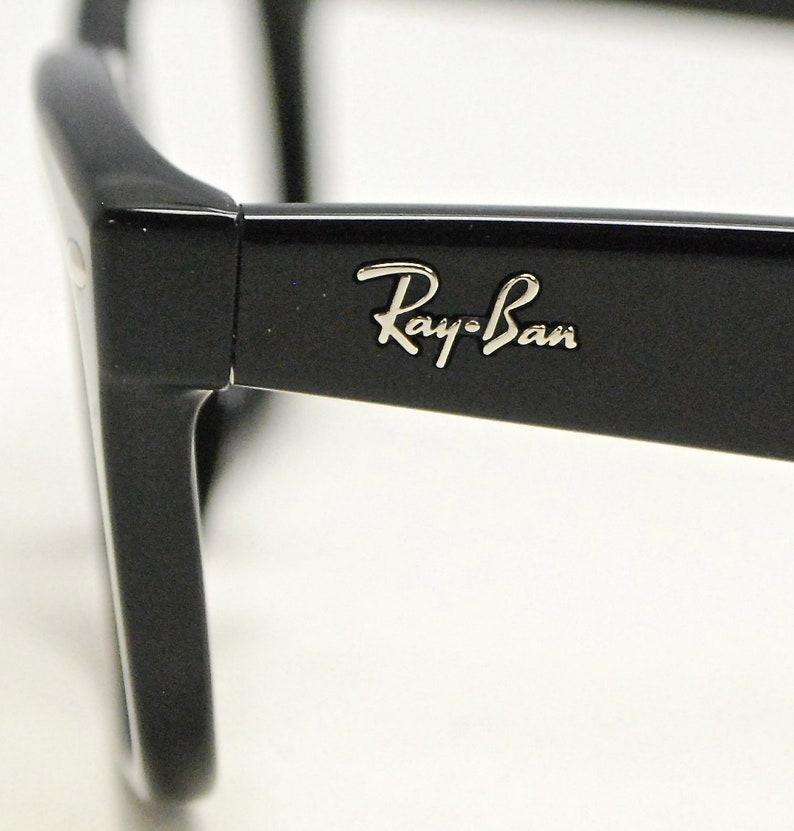 b92553e937c RAY BAN Eyeglasses Wayfarer Style Black Frames   Model RB