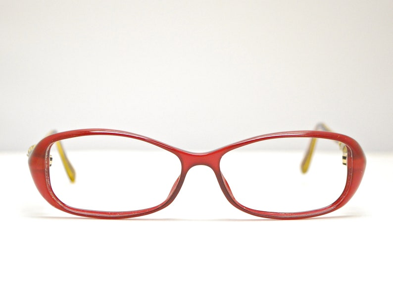 48bdc21a96b44 Vintage GUCCI Cat Eye Eyeglasses w/ Gucci Coconut Detail / Model# GG 3147 /  Retro Collectable Rare #1876