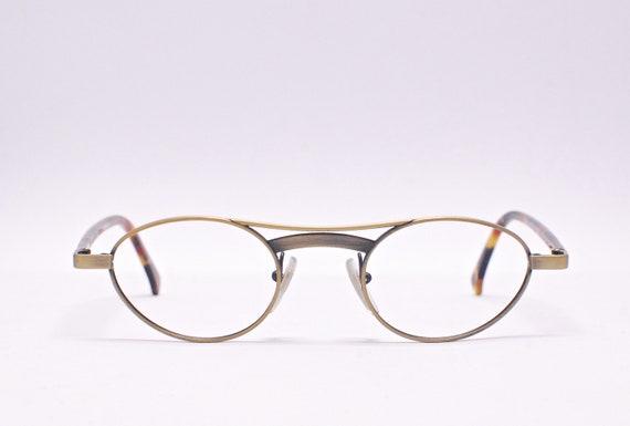 0cf3408023778 Vintage ALAIN MIKLI PARIS Bronze Metal Oval Eyeglasses Frames / Model 2133  Col 388 / Retro Collectable Rare #1992