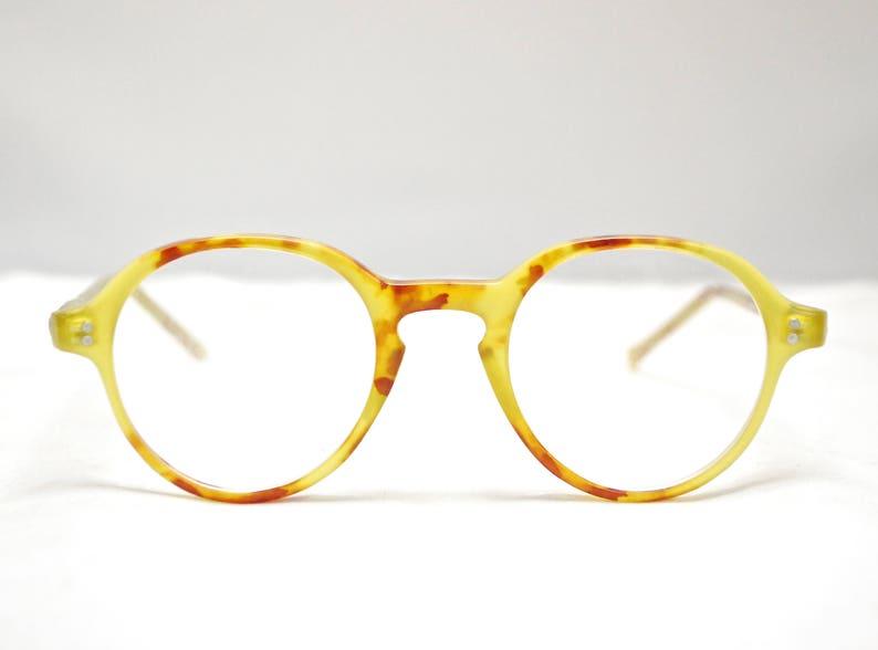 249e39c74cf61 Vintage 1980's KEYHOLE Eyeglasses Tortoise Frames with Case / Model# 9401 /  Retro Collectable Rare #1434