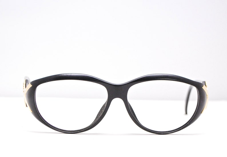 ab39e8ee501b2 Vintage PALOMA PICASSO Eyeglasses Black Frames / Model# 3773 90 / Retro  Collectable Rare #1925