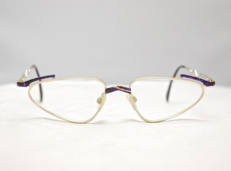 0a7c4f02227a2 Vintage 1990's NEOSTYLE Eyeglasses Gold & Iridescent Metal Frames / Model#  Forum 541 (464) / Retro Collectible Rare #1330