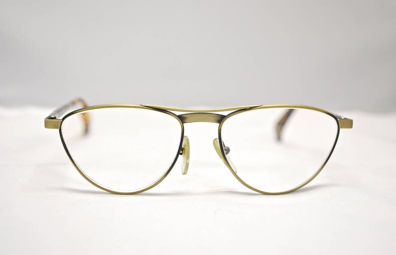 a507a46aefe38 Vintage ALAIN MIKLI Paris Bronze Metal Cat Eye Eyeglasses
