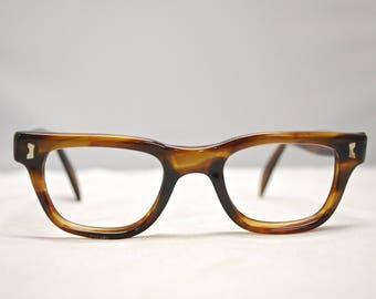 Vintage 1950's/60's SRO U.S.A. Tortoise Eyeglasses / Retro Collectable Rare #1437