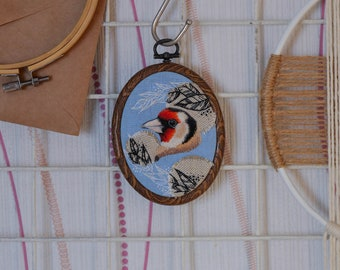 Woodland birds nursery embroidery hoop bird embroidery framed wall art farm house embroidery vintage inspired small wall art hanging