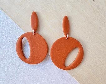 Retro clay earrings, glittery cut out earrings, 1950's earrings, bold earrings, polymer clay earrings, lightweight earrings