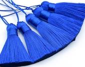 2 Pcs - 2.1 quot 5CM Royal Blue Tassel Artificial Silk 1CM Thickness Handcraft High Quality Tassels (64122)