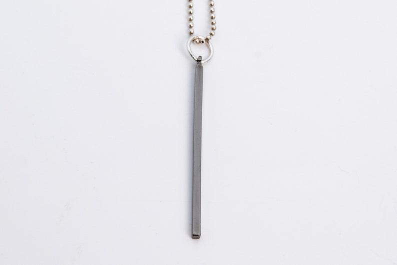 67066-2494 Earrings Black Gunmetal Tone Brass Pendant 10 Pcs 40x1x1MM Square Stick Bars Pendants