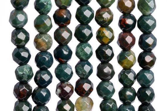 """6x4MM Natural Blood Stone Grade AAA Rondelle Gemstone Loose Beads 15/"""""""