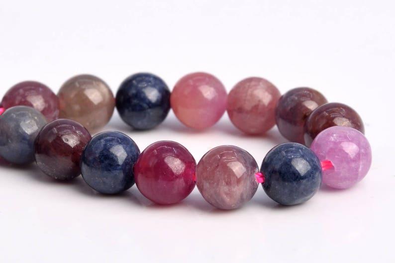 103656 6MM Ruby Sapphire Beads Grade AA Genuine Natural Round Gemstone Loose Beads 67  33 Pcs