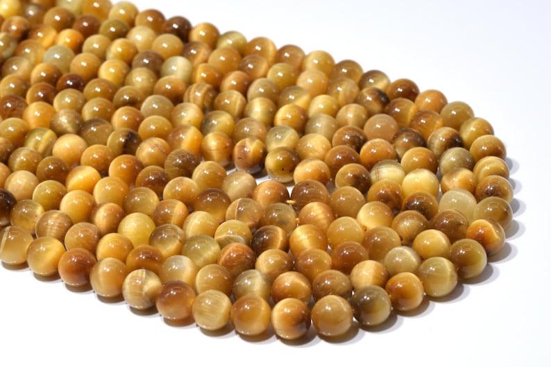 100214 60  30 Pcs 6MM Golden Tiger Eye Beads Grade AA Natural Round Gemstone Loose Beads